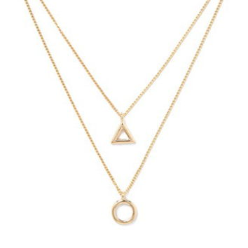 Circle Triangle Layered Necklace
