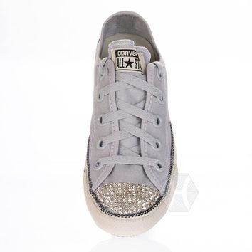 Converse Chuck Taylor? All Star? Chuckout Washed Canvas with Swarovski crystal toe in