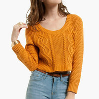 Rachel Cable Sweater $60