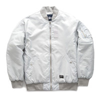 Stussy: Classic MA1 Jacket - Silver