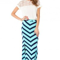 Sarabeth Maxi Skirt in Mint - ShopSosie.com