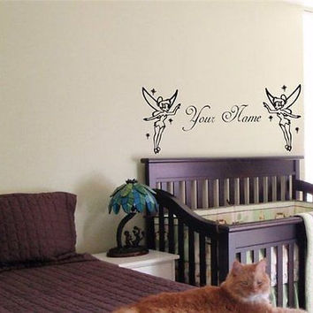 Tinkerbell Fairy Personalized Custom Wall Art Sticker Decal 01