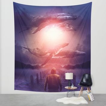 The Space Between Dreams & Reality Wall Tapestry by Soaring Anchor Designs