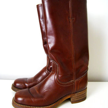 Vintage Levi's Mens Leather Boots Size 9 M by CutandChicVintage