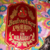 Vintage Early 1990's budweiser sign