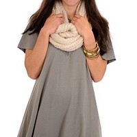 Solid Cotton Tunic, Olive