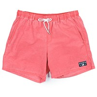 SEAWASH™ Shoals Swim Trunk in Washed Red by Southern Marsh