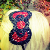 Hello Kitty Glitter Bow Head Band by Windsday on Etsy