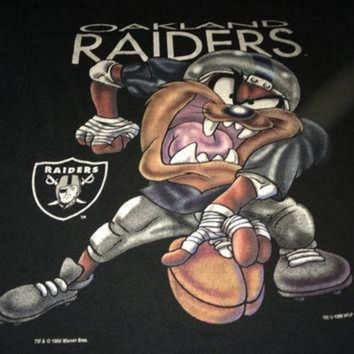 VLX9RV Sale!! Vintage OAKLAND RAIDERS casual black t shirt football NFL jersey cotton tops te