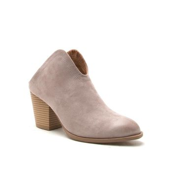 Women's Taupe Mule Bootie