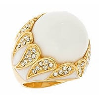 Andara White Agate Cocktail Ring - Max and Chloe