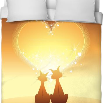 ROB Cat Love Duvet Cover