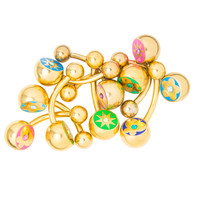 Gold Ion Plated Belly Ring 10 Pack