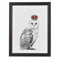 Limited Edition Crowned Owl Print