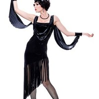 Paper Magic Womens French Kiss Glamour Flapper Costume