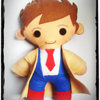 Doctor Who David Tennant Décimo doctor peluche de fieltro con ojos de seguridad