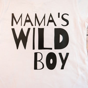 Mama's Wild Boy, Baby Boy Wild One, Wild Baby, Wild One, Wild Thing, Boy Arrow Shirt, Personalized Baby Gift