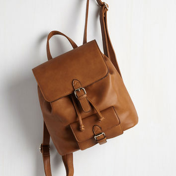 Course of Nature Backpack in Tan | Mod Retro Vintage Bags | ModCloth.com