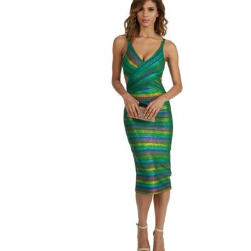 Green Dancing Queen Midi Dress