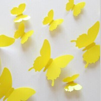 3D Butterflies Wall Stickers Room Home Decors Art DIY Decorations Paper Wall Decorated