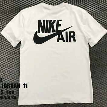 NIKE AIR JORDAN 11 Tide brand fashion casual men and women trend t-shirt F-XMCP-YC White