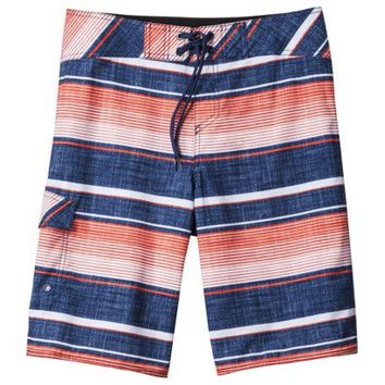 Mossimo Supply Co. Men's Board Shorts - Blue/Orange Stripes