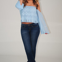 For The Summer Top: Sky Blue
