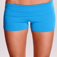 Turquoise Sexy Active Wear Shorts
