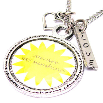 You Are My Sunshine Framed Necklace