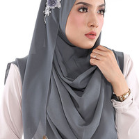 Instant HIjab/Slip On CLARA  - Aida Naim Instant Shawl By Clixy