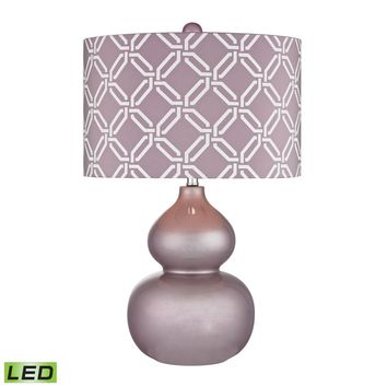 Ivybridge Ceramic LED Table Lamp in Lilac Luster Lilac Luster