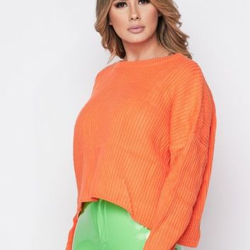 Sunkiss orange Long sleeve sweater