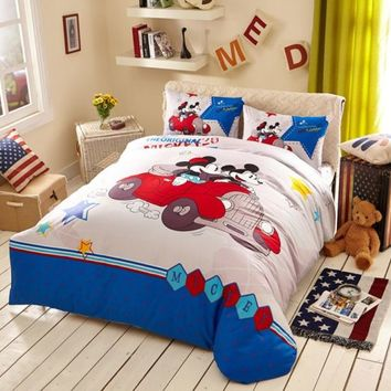 White Color Mickey Minnie Teens Bedroom Bedding Set | EBeddingSets