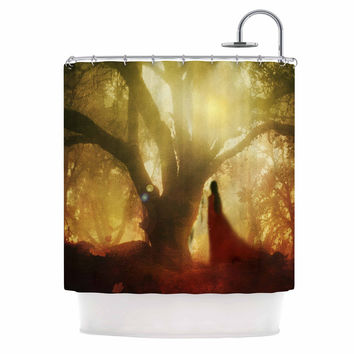 "Viviana Gonzalez ""Autumn Song"" Yellow Tree  Shower Curtain"