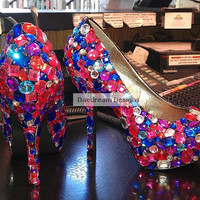 CUSTOMIZABLE BLINGED HEELS Prices Vary Read by DaedreamDesigns