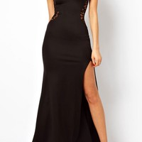 Graceful Side Slit Maxi Dress - OASAP.com
