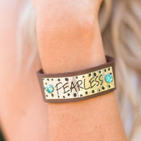 Fearless Shine Leather Bracelet