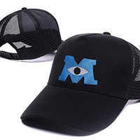 DEBANG Monsters University Embroidery Adjustable Mesh Hat Baseball Mesh Cap