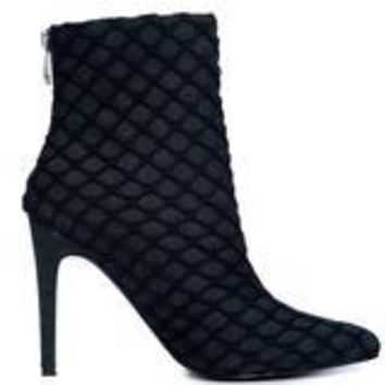 Black Fish Net Booties
