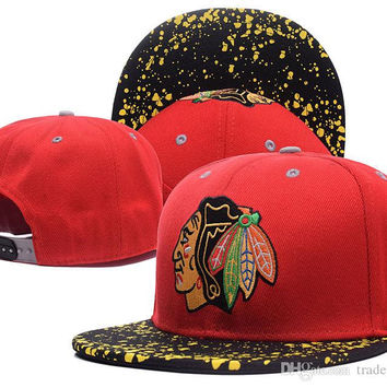 2017 New Arrived NHL Chicago Blackhawks gorras planas Hat Adjustable Baseball bones aba reta Snapback Hockey Cap Adjustable Hiphop chapeu