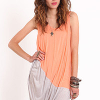 Color Block Me Not Asymmetrical Tunic - $29.00 : ThreadSence.com, Your Spot For Indie Clothing & Indie Urban Culture