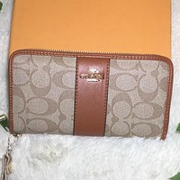 Coach Women Sell well Fashion Print Wallet Purse