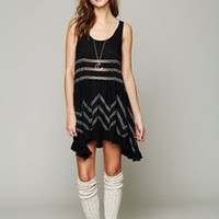 Intimately Free People Voile Trapeze Slip  XS Black Combo ~NWT~