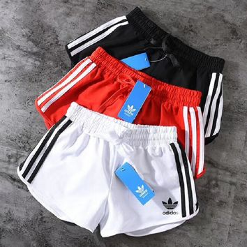 adidas Originals Black Three Stripe Shorts