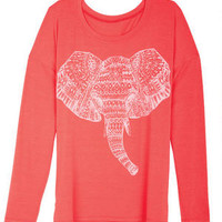 Aztec Elephant Long-Sleeve