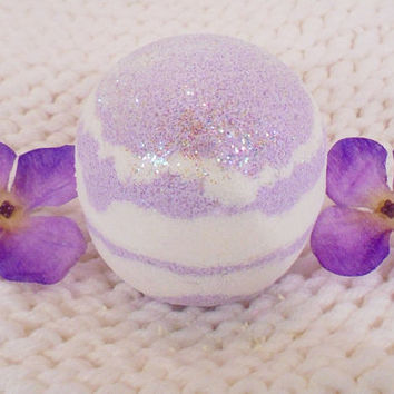 Peppermint lavander bath bomb, bath bomb, bath fizz, large bath bomb, relaxing bath bomb, natural bath bomb, peppermint bath bomb,