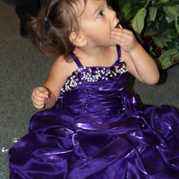 Girls Purple Dress - Purple Lacy Dress for Little Girls - Flower Girl Purple Dress -Purple Lace  Dress for Wedding - Purple Formal Dress