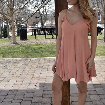 Just Peachy Swing Dress