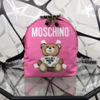Moschino 2018 new shoulder bag handbag waterproof bear bag F0608-1 pink