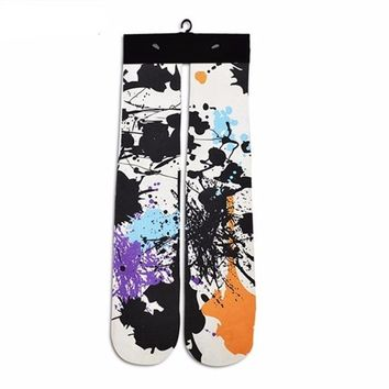 Abstract Pollock Style Socks